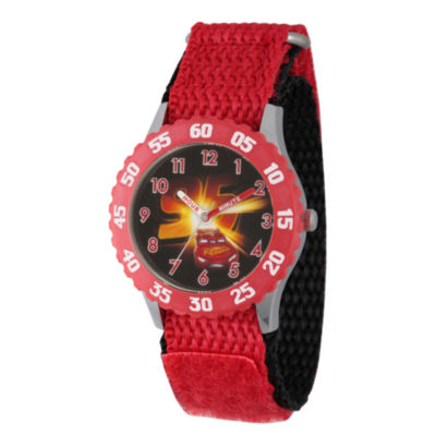 Disney Cars Boys Red Strap Watch-Wds000464
