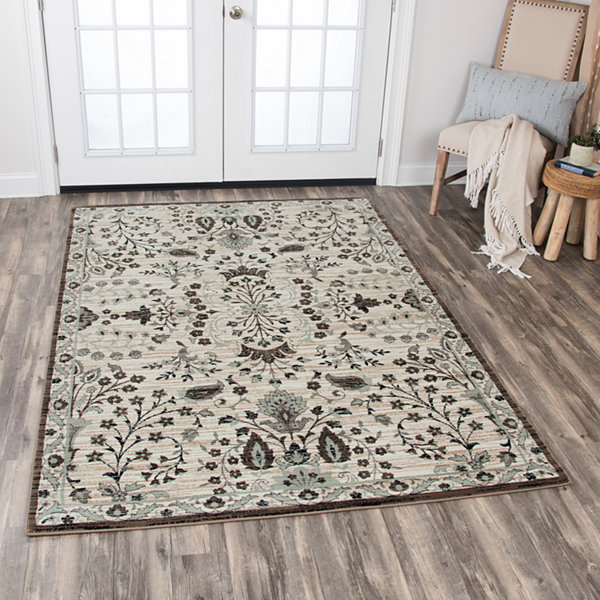 Rizzy Home Zenith Collection Rylie Floral Rectangular Rugs