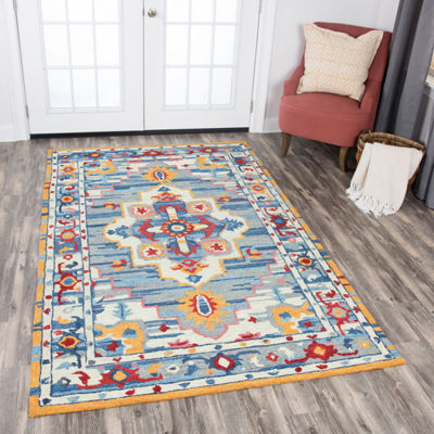 Rizzy Home Zingaro Collection Camryn Medallion Rectangular Rugs