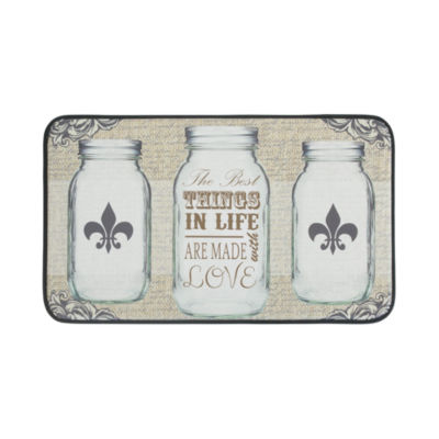 Chef Gear All Things in Life Anti-Fatigue Faux-Leather Kitchen Mat