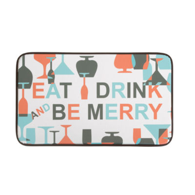 Chef Gear Be Merry Wine Anti-Fatigue Faux-Leather Kitchen Mat
