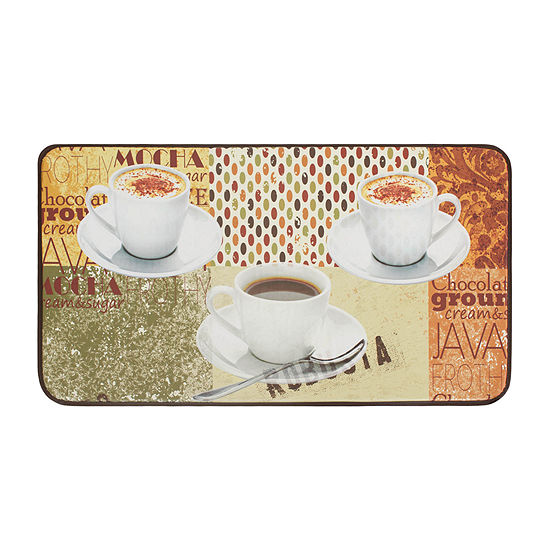 Chef Gear Coffee Patch Anti-Fatigue Faux-Leather Kitchen Mat