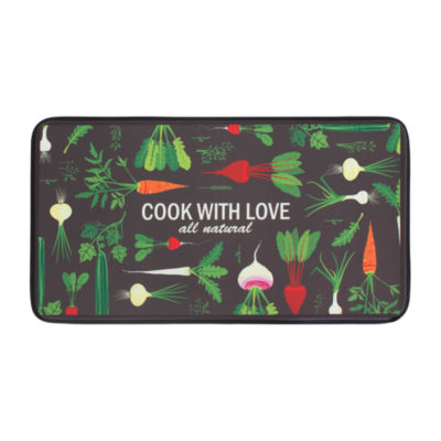 Chef Gear Cook With Love Anti-Fatigue Faux-Leather Kitchen Mat