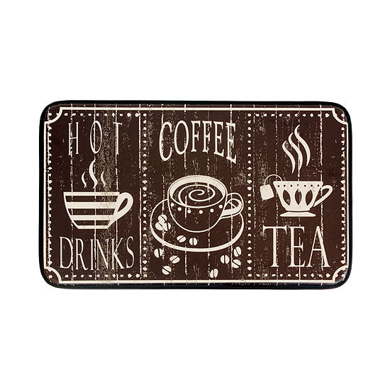 Chef Gear Hot Coffee Anti-Fatigue Faux-Leather Kitchen Mat
