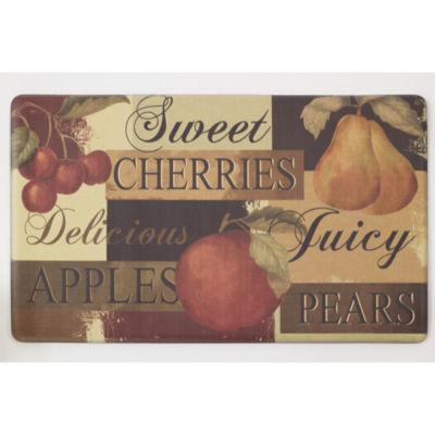Chef Gear Scrumptious Fruit Anti-Fatigue Gelness Comfort Kitchen Mat