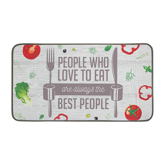 Chef Gear The Best People Anti Fatigue Faux Leather Kitchen Mat