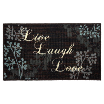Structures Live Laugh Love Textured Loop Oblong Kitchen Mat
