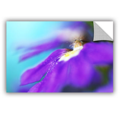 Brushstone Purple Center Removable Wall Decal