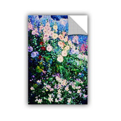 Brushstone Hollyhocks And Cosmos Removable Wall Decal