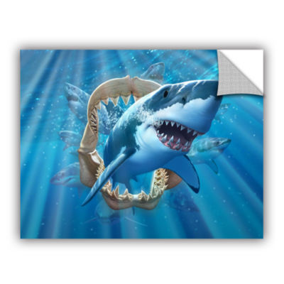 Brushstone Great White Shark Removable Wall Decal