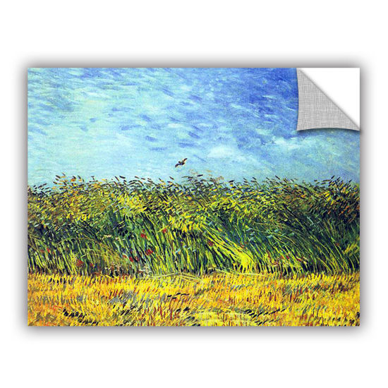 Brushstone Green Wheatfields Removable Wall Decal