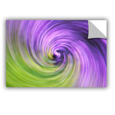Brushstone Heather Spiral Removable Wall Decal