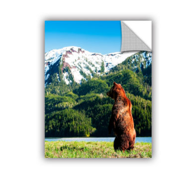 Brushstone Grizzly Alert Removable Wall Decal