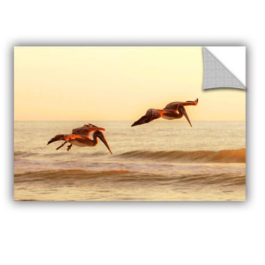 Brushstone Pelicans At Sunset Removable Wall Decal