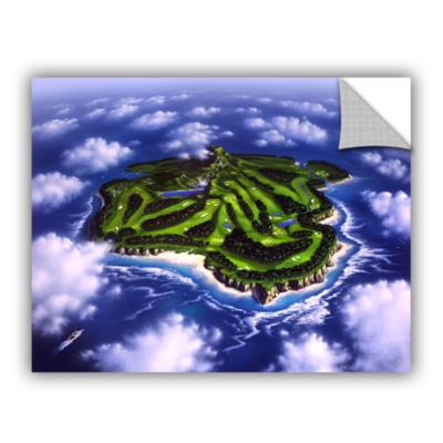 Brushstone Paradise Island Removable Wall Decal