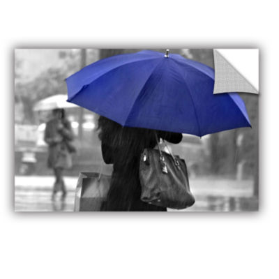 Brushstone Rainy Blue Removable Wall Decal