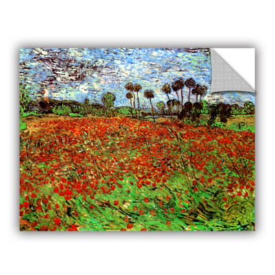 Brushstone Poppy Field Removable Wall Decal