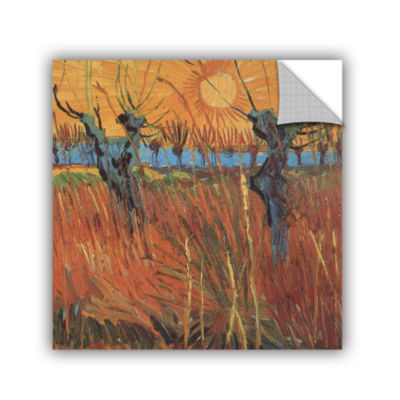 Brushstone Pollard Willows With Setting Sun (Willows At Sunset) Removable Wall Decal