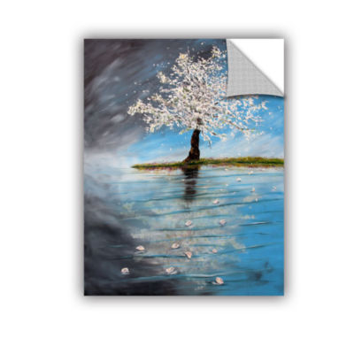 Brushstone Reflection Removable Wall Decal
