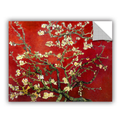 Brushstone Red Blossoming Almond Tree Removable Wall Decal