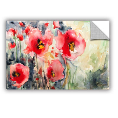 Brushstone Wild Poppies Removable Wall Decal