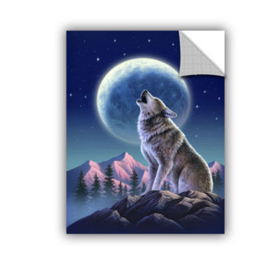 Brushstone Wolf Moon Removable Wall Decal