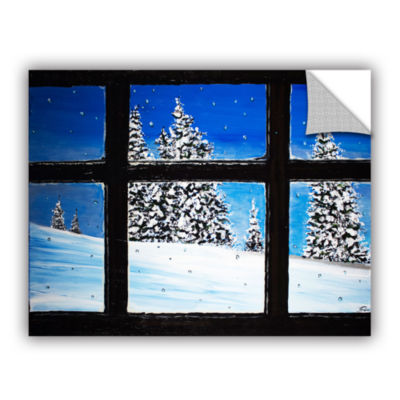 Brushstone Window Removable Wall Decal