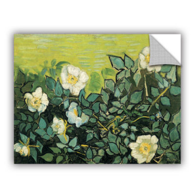 Brushstone Wild Roses Removable Wall Decal