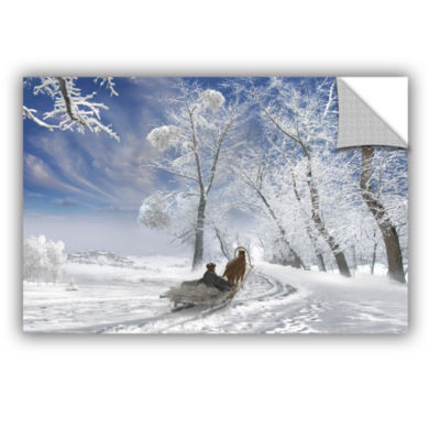 Brushstone Winter Day Removable Wall Decal