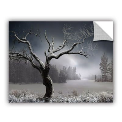 Brushstone Winter Lake View Removable Wall Decal