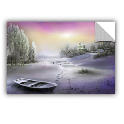 Brushstone Winter Landscape Removable Wall Decal