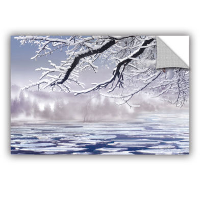 Brushstone Winter Mist Removable Wall Decal