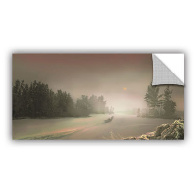 Brushstone Winter Sunset Removable Wall Decal