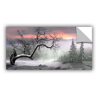 Brushstone Winter Trees Removable Wall Decal