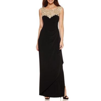 Atelier Danielle Sleeveless Applique Evening Gown