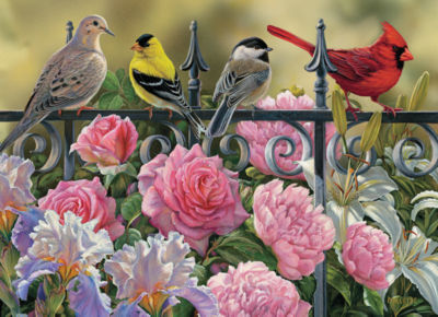 Cobble Hill: Birds on a Fence 1000 Piece Jigsaw Puzzle