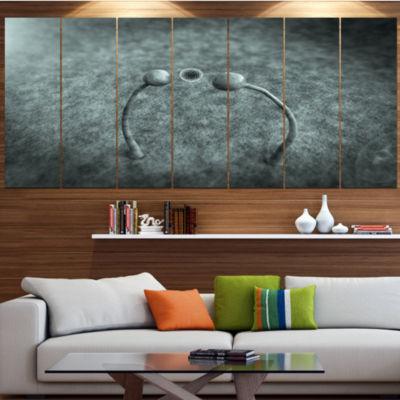 Designart Fungus On Leather Surface Landscape Canvas Art Print - 4 Panels