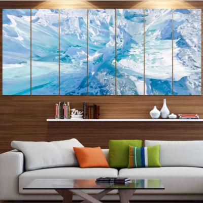 Designart Blue Ice Hummocks Baikal Landscape Canvas Art Print - 5 Panels