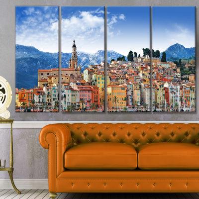 Designart Colors Of Southern Europe Landscape Canvas Art Print - 4 Panels