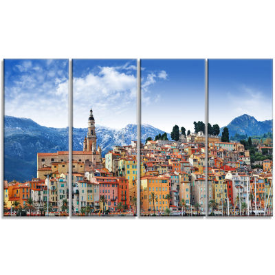 Colors Of Southern Europe Landscape Canvas Art Print - 4 Panels