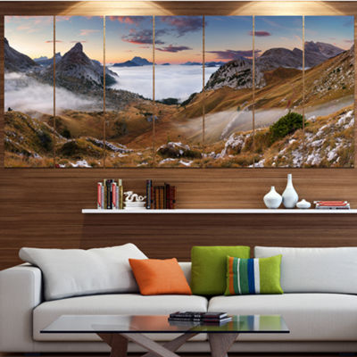 Designart Beautiful Summer Panorama Landscape Canvas Art Print - 5 Panels