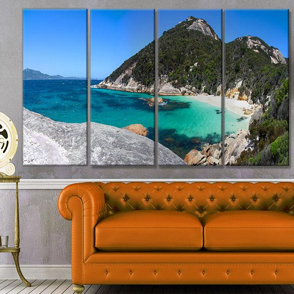 Designart small hidden bay panorama landscape canvas art for Small canvas boards