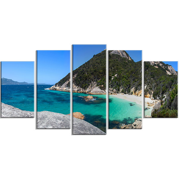 Designart small hidden bay panorama landscape large canvas for Small canvas boards