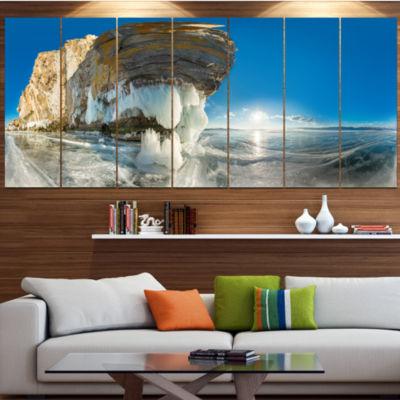 Design Art Rock On Olkhon Island In Baikal Lake Landscape Canvas Art Print - 5 Panels
