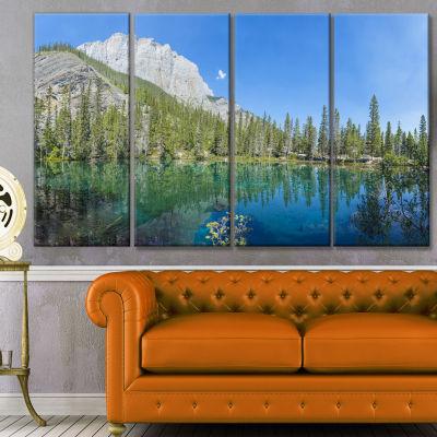 Designart Grassi Lake Canmore Alberta Canada Landscape Canvas Art Print - 4 Panels