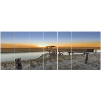 Watchtower At North Sea Dunes Landscape Canvas ArtPrint - 7 Panels