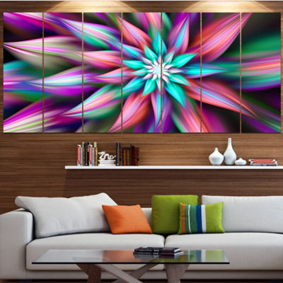 Designart Dance Of Multi Color Exotic Flower Floral Canvas Art Print - 5 Panels