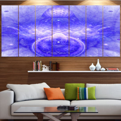 Infinite Blue Boundaries Of World Floral Canvas Art Print - 5 Panels