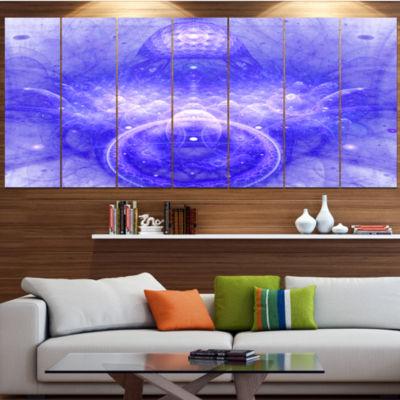 Designart Infinite Blue Boundaries Of World FloralCanvas Art Print - 7 Panels