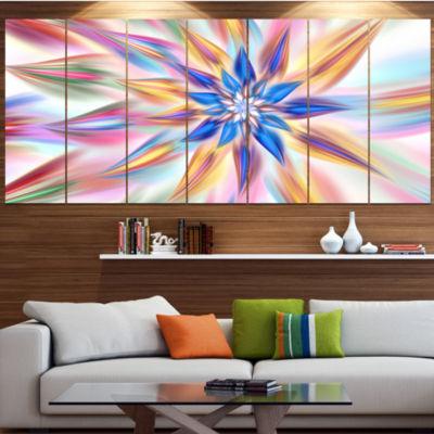 Designart Exotic Dance Of Multi Color Petals Floral Canvas Art Print - 5 Panels